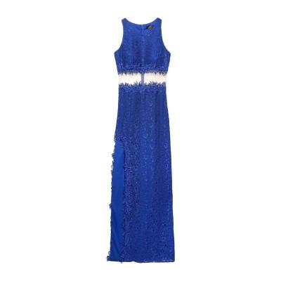 SOANI ロングワンピース&ドレス ブルー 44 ポリエステル 100% ロングワンピース&ドレス