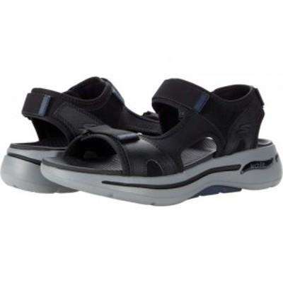 SKECHERS Performance スケッチャーズ メンズ 男性用 シューズ 靴 サンダル Go Walk Arch Fit Sandal Mission Black/Navy【送料無料】