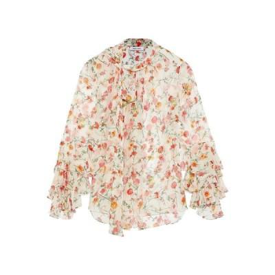 PRABAL GURUNG シルクシャツ&ブラウス ファッション  レディースファッション  トップス  シャツ、ブラウス  長袖 ホワイト