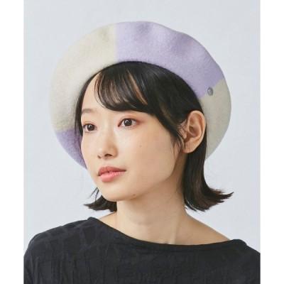帽子 【OVERRIDE】  BASQUE COLOR  PANEL BERET / 【オーバーライド】 バスク カラー パネル ベレー