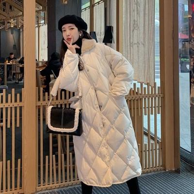 アウター レディース ダウンコート レディース ロング 中綿 コート ロング丈 襟ボア シンプル きれいめ 暖か 秋 冬 キルティング かわ大 かわ小