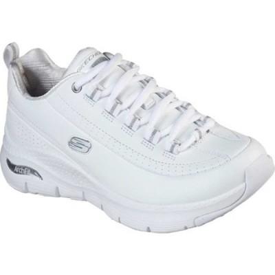 スケッチャーズ スニーカー シューズ レディース Arch Fit Citi Drive Sneaker (Women's) White/Silver