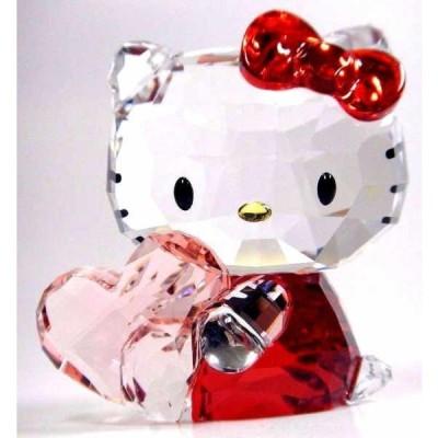 置物 海外セレクション HELLO KITTY PINK HEART SANRIO CRYSTAL 2016  SWAROVSKI #5135886