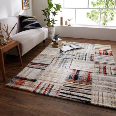 トルコ製多色使いのウィルトン織ラグ  約80×140
