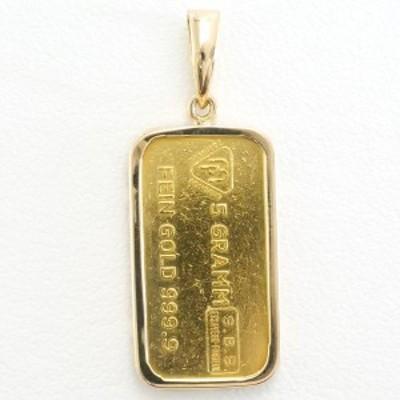 スイスバンク インゴット 金 K24YG K18YG ペンダントトップ 総重量約6.0g 中古ジュエリー