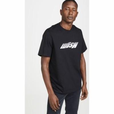 エムエスジーエム MSGM メンズ Tシャツ ロゴTシャツ トップス Upside Down Fast Logo Short Sleeve Tee Shirt Black