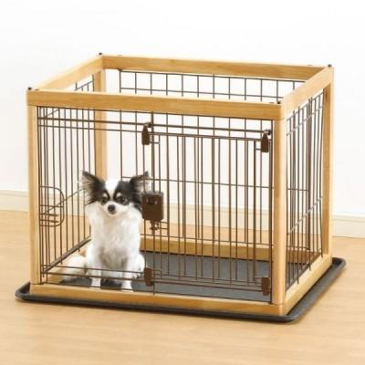 1点限り リッチェル 木製ペットサークル小型犬用 60-50ナチュラル AS120