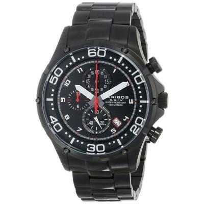 アクリボス Akribos XXIV 男性用 腕時計 メンズ ウォッチ クロノグラフ ブラック AK663BK