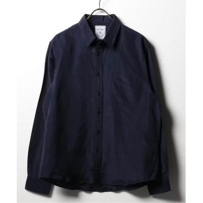 メンズ ベーセーストック BELGIAN LINEN BLEND レギュラーシャツ ネイビー XL