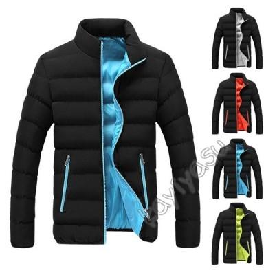 中綿ジャケット メンズ コート アウター 防寒着 20代 30代 40代 50代 60代 フード無し おしゃれ スタンドカラー 暖かい 秋冬 厚手 スリム ショート丈