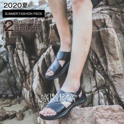 サンダル メンズ ビーチサンダル メンズ 痛くない 夏サンダル 2WAY 靴 カジュアルシューズ  かっこいい 歩きやすい 夏新作
