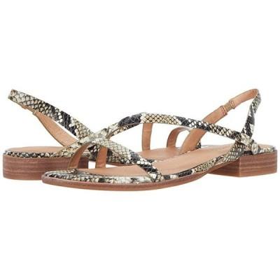 Madewell Heidi Bare Slingback Sandal in Snake Embossed Leather レディース サンダル Heather Natural Multi