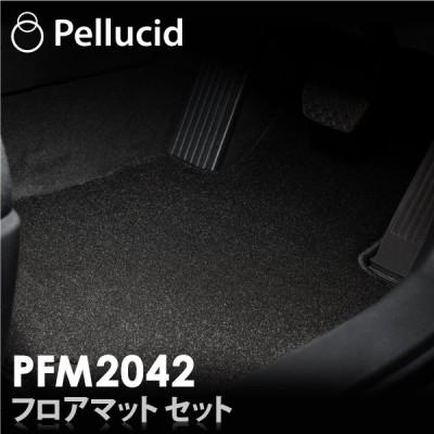 数量限定特価  CX-30 4WD DM系専用 無地 ブラック 最高峰フロアマットセット PFM2042 目付量2000g ヒールパッドレス 黒