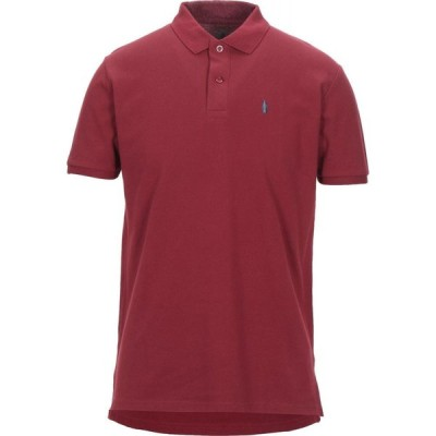 WALTBAY メンズ ポロシャツ トップス polo shirt Maroon