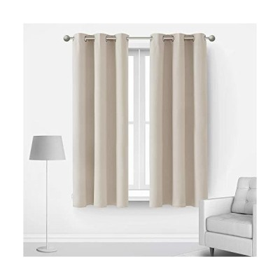 Deconovo Blackout Curtains for Bedroom 63 Inches Long Room Darkening Thermal Insulated Window Drapes with Grommets for Living Room Nursery K