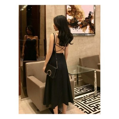 背中開き ワンピースドレス 大きいサイズ ロングワンピース ドレス 黒 背中開き黒ワンピースドレス ロングワンピース 大きいサイズ ミモレ丈 セクシー ノ