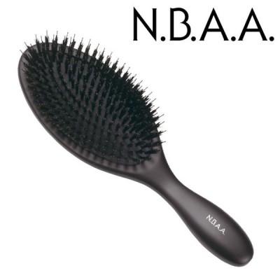 NBAA ブロークッションブラシ ウッド大ブラック(NB-BC5)