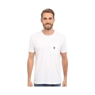 U.S. POLO ASSN. USポロ メンズ 男性用 ファッション Tシャツ Solid Crew Neck Pocket T-Shirt - White