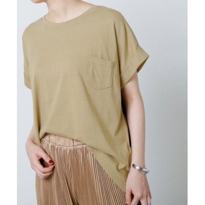 (framesRayCassin/フレームスレイカズン)綿ポケット付Tシャツ/レディース カーキ