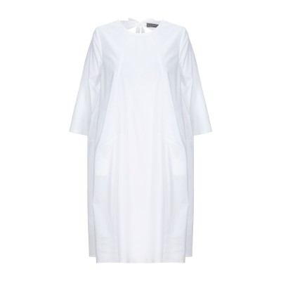 SOALLURE ミニワンピース&ドレス ホワイト 38 コットン 97% / ポリウレタン 3% ミニワンピース&ドレス