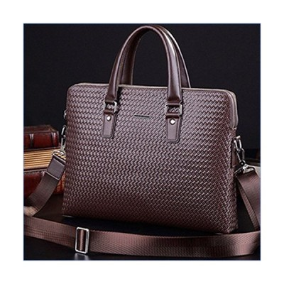 RUNWEI Carry A Cross-Body Business Briefcase Fashion Trend Mobile Travel Bag 13 Inch (Color : Brown)並行輸入品