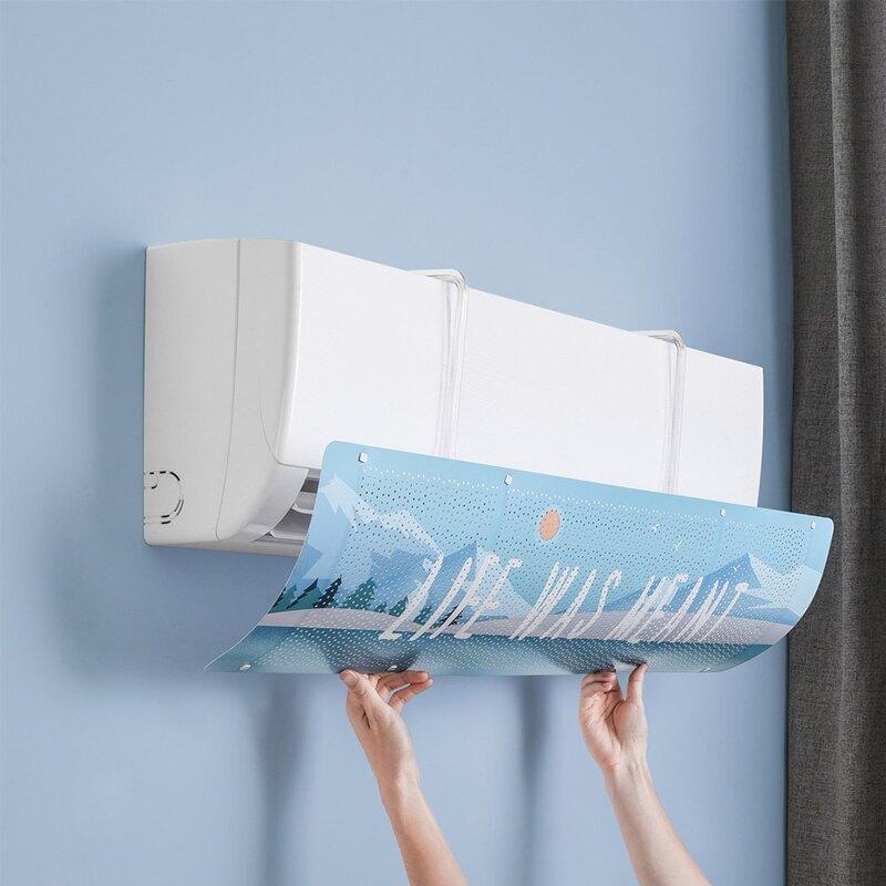 現貨 冷氣擋風板 空調擋板 冷氣擋風板 冷氣擋板 防風檔板 防直吹 空調擋風板 加厚透氣 導流板 濾風板 冷氣 【A134】