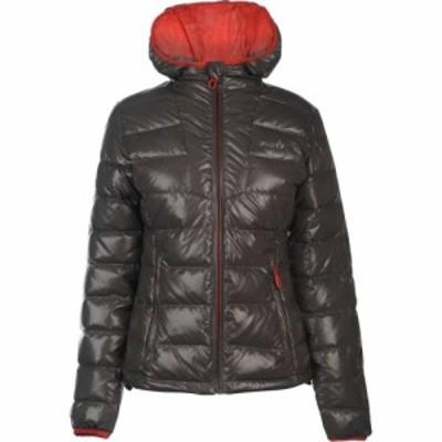 IFlow レディース ジャケット アウター Diamond Series Jacket Grey/Red