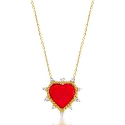 ギャビー リエル レディース ネックレス・チョーカー・ペンダントトップ アクセサリー 14K Gold Vermeil Twisted Spiked Heart Pendant Necklace GOLD