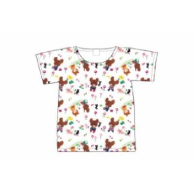 【くまのがっこう】Tシャツ【M】【総柄】【くま】【ジャッキー】【キャラ】【絵本】【シャツ】【ティーシャツ】【服】【衣服】【レディー