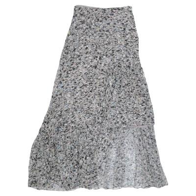ロゼッタ・ゲッティ ROSETTA GETTY 7分丈スカート ライトグレー 4 シルク 100% 7分丈スカート