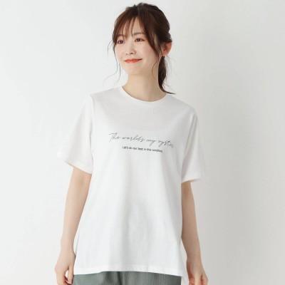 ピンクアドベ pink adobe 【M-LL】USAコットン両面ロゴTシャツ (オフホワイト)