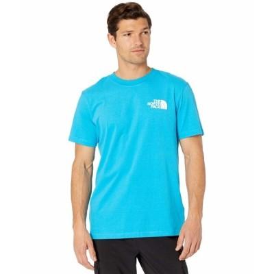 ノースフェイス シャツ トップス メンズ Box Nse Short Sleeve Tee Meridian Blue