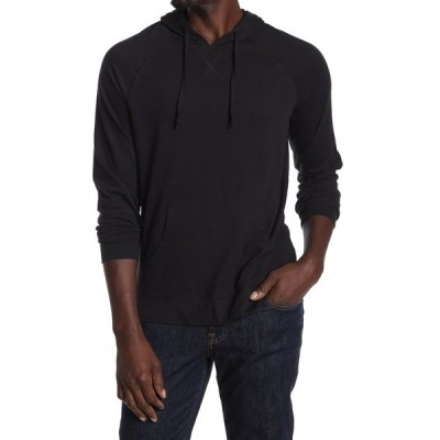 パブリックオピニオン メンズ Tシャツ トップス Solid Knit Hoodie BLACK ROCK
