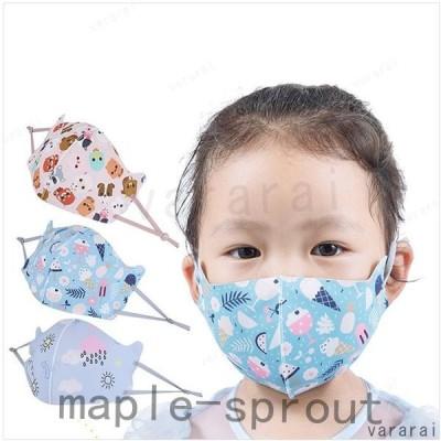 可愛い 動物柄 子供用 UVカット 夏用マスク 通気性 夏 薄手 紫外線対策 5枚セット カラーランダム