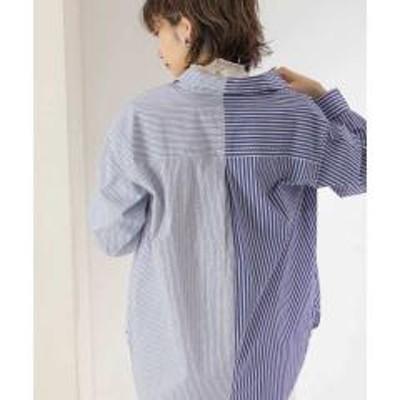 ケービーエフアシンメトリーパターンストライプシャツ【お取り寄せ商品】