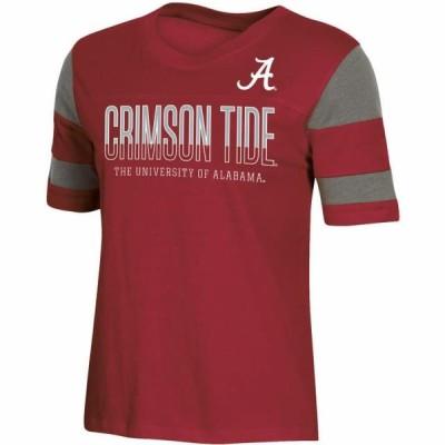 レディース スポーツリーグ アメリカ大学スポーツ Women's Russell Athletic Crimson Alabama Crimson Tide Boxy T-Shirt Tシャツ