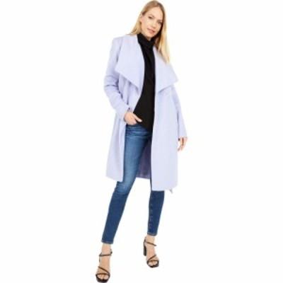 コールハーン Cole Haan レディース コート ラップコート アウター Slick Wool Wrap Coat w/ Exaggerated Collar Lavender