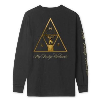 HUF Prestige Triple Triangle L/S T-Shirt Black M Tシャツ 送料無料