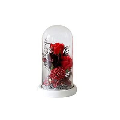 バラ型ーソープフラワー ガラスカバーギフトボックス 誕生日 母の日 記念日 先生の日 バレンタインデー 昇進