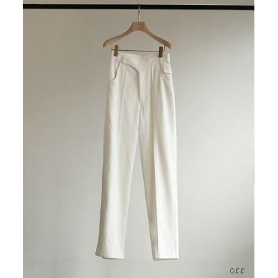 <little Suzie(Women)/リトルスージー> Gabardine Center-Press Pants Off【三越伊勢丹/公式】