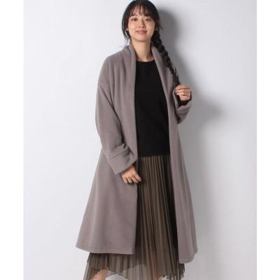 Rewde 【サステナブル】【再生繊維】フリースガウンコート(0R08-10012)(グレー)