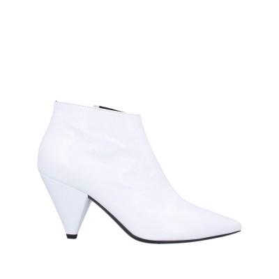 GIAMPAOLO VIOZZI ショートブーツ ホワイト 40 革 ショートブーツ
