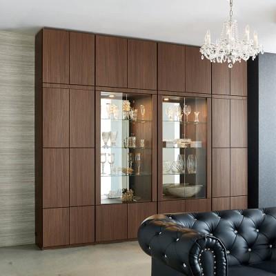 家具 収納 本棚 ラック シェルフ コレクションラック ディスプレイラック 美しく飾れる 光沢仕上げ収納システム ガラス扉コレクションケース  幅60cm 548903