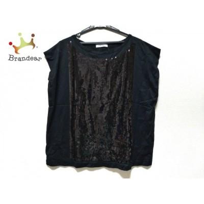 アドーア ADORE 半袖Tシャツ サイズ38 M レディース 美品 黒 スパンコール 新着 20200602