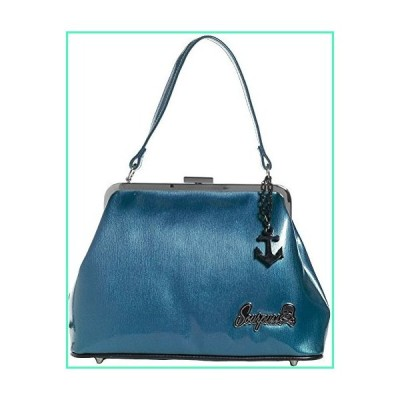 "Sourpuss Brand - Blue Betsy Purse with Black Anchor Charm, 12"" x 8"" x 5""並行輸入品"