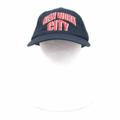 【中古】ミュベールワーク MUVEIL WORK 帽子 キャップ 野球帽 ロゴプリント 57 紺 ネイビー /CT メンズ