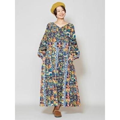 【SALE】チャイハネ 公式 [ボヘナワンピース] エスニック アジアン  ファッション ワンピース IAC-0318