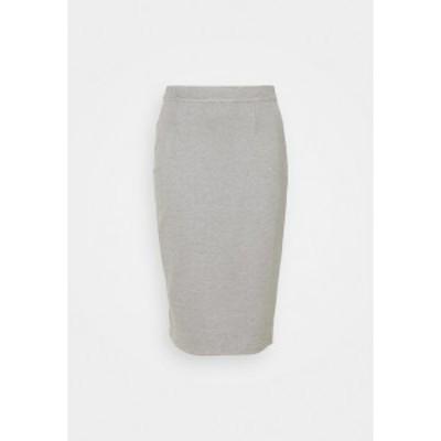 ヌー イン レディース スカート ボトムス MIDI SKIRT - Pencil skirt - grey marl grey marl