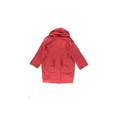 コート ジャケット アウター 防寒 海外セレクション Pure DKNY 5488 レディース レッド Hooded 巾着バッグ Anorak ジャケット M