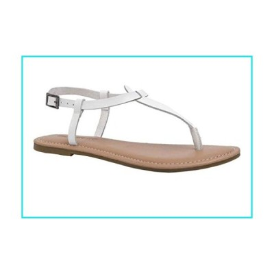CUSHIONAIRE Women's Clea Flat Sandal with +Comfort, White 8【並行輸入品】